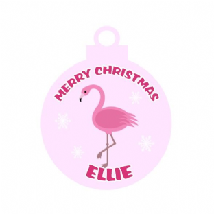 Flamingo Acrylic Christmas Ornament Decoration